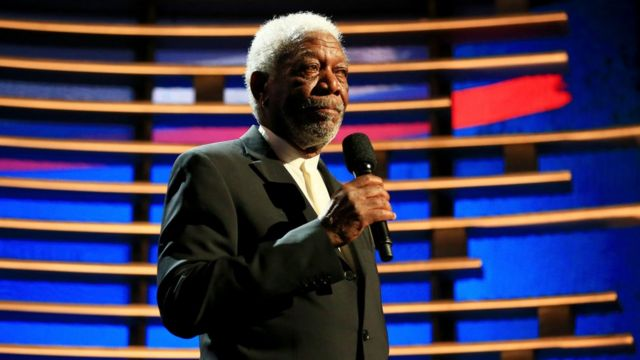 Actor Morgan Freeman in plane scare