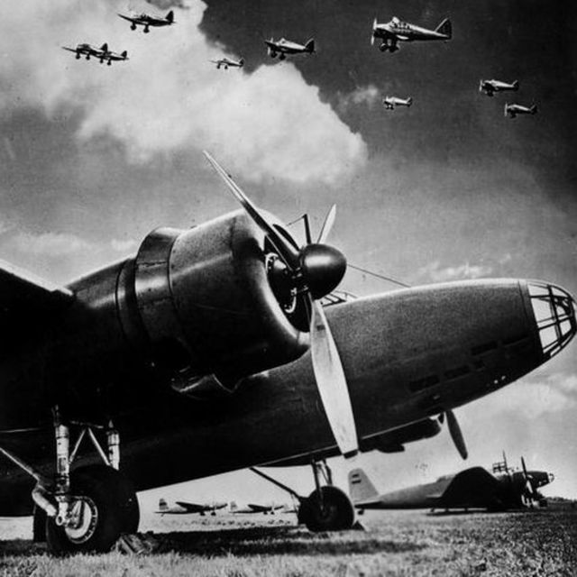 Mitsubishi KI 21 bombers. 1941. LAP-5769. (Photo by LAPI/Roger Viollet/Getty Images)