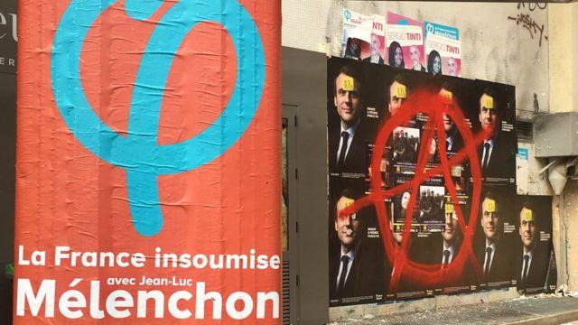 Сторонники левого радикала Жан-Люка Меланшона недолюбливают Макрона
