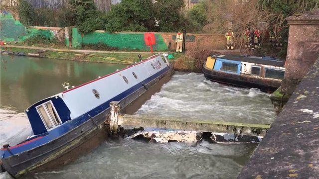 Narrow boats in Oxford
