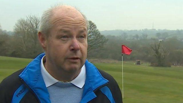 Paul Lovell, head professional at Llangefni golf club