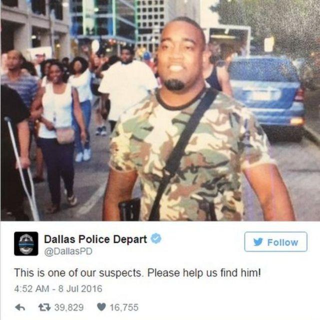 Tuit de la policía de Dallas