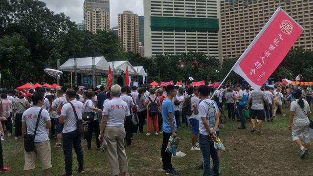 集会举行地点是维多利亚公园的草坪,至集会中段仍然没有站满人。