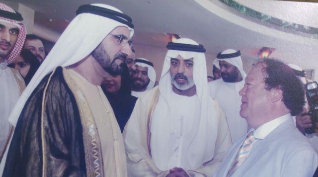 رئيس الجالية اليهودية مع حاكم دبي محمد بن راشد