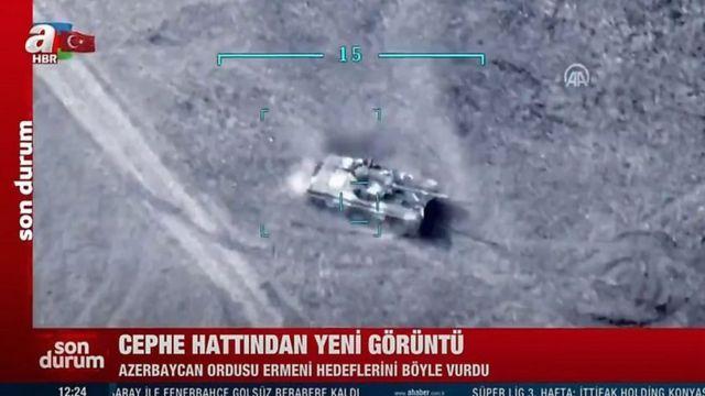 شبکههای خبری ترکیه تصاویری از حملههای پهپادی آذربایجان پخش کردهاند