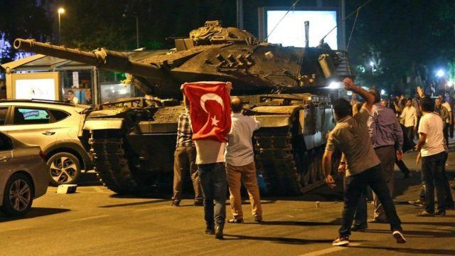 Tanques em Ancara