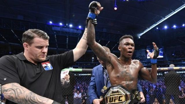 Israel Adesanya win UFC middleweight Championship