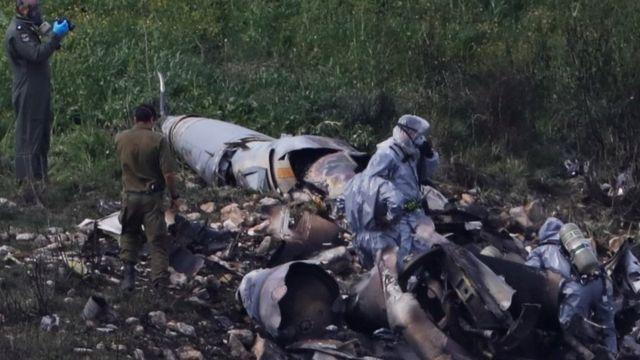 Site of crash of Israeli F-16 warplane, 10 February