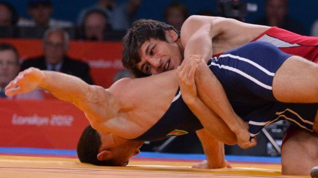 グレコローマンスタイルのレスリング競技(写真は2012年のロンドン大会)