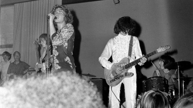 Первый концерт новой группы The New Yardbirds, позднее известной как Led Zeppelin. 7 сентября 1968 г., Копенгаген.