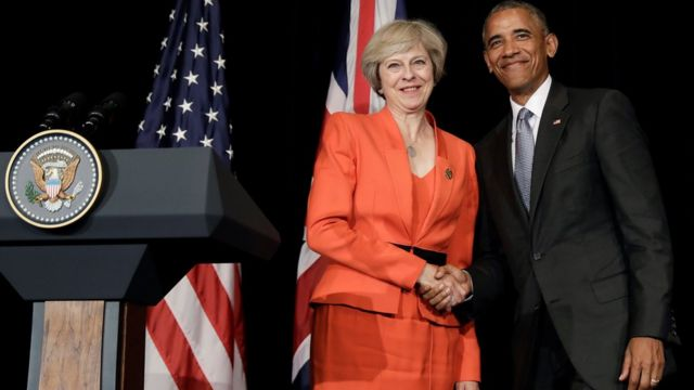 Theresa May and Barack Obama held a joint press conference
