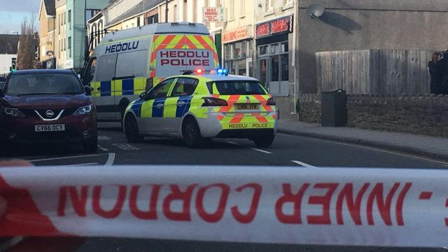 Armed police respond to 'ongoing incident' in Gorseinon