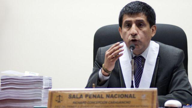O juiz peruano Concepción Carhuancho