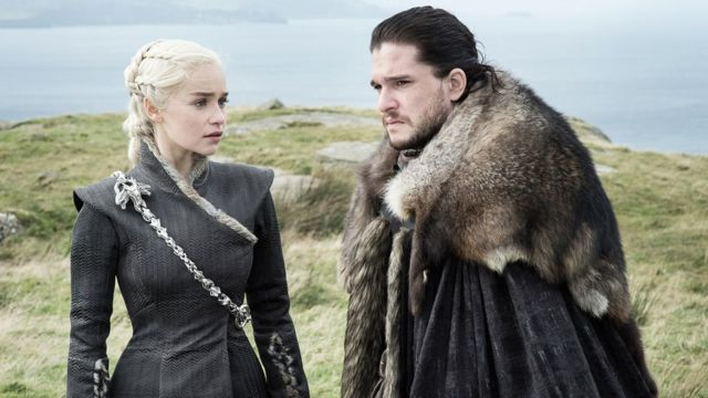 Daenarys Targaryen y Jon Snow