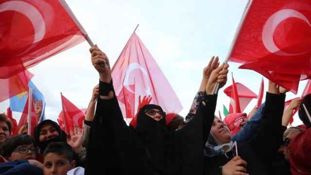 прихильники Ердогана в Анкарі