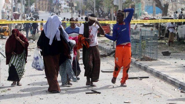 Abantu bakomeretse mu gitero i Mogadishu