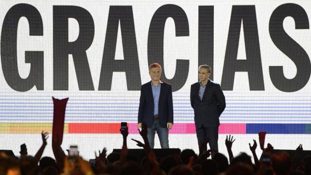 Mauricio Macri y Miguel Ángel Pichetto.