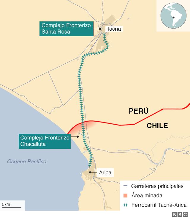Mapa Tacna Arica