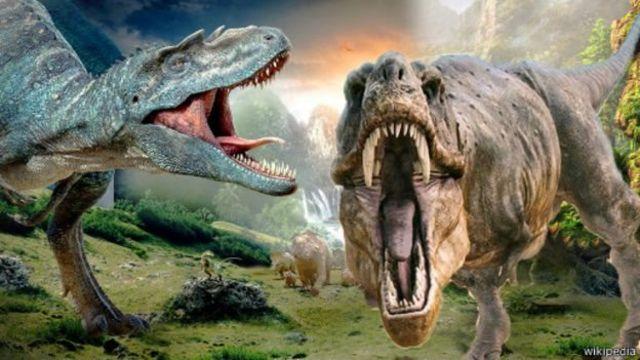 Hoton kakannin kadangaru da ake kira 'Dinasaurs' a turance wadanda kuma masana ilimin dabbobi suka ce sun bace daga duniya.