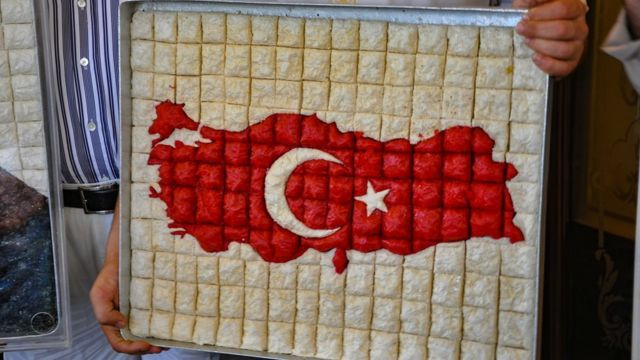 Карта Турции на пахлаве