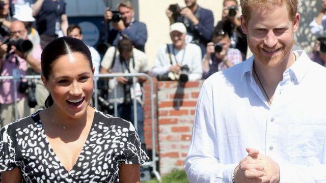 The Duke and Duchess of Sussex on their tour of Africa