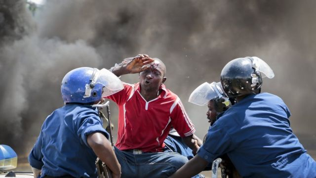 Umuntu yakomerekeye mu myiyerekano yo mu Burundi mu mwaka uheze