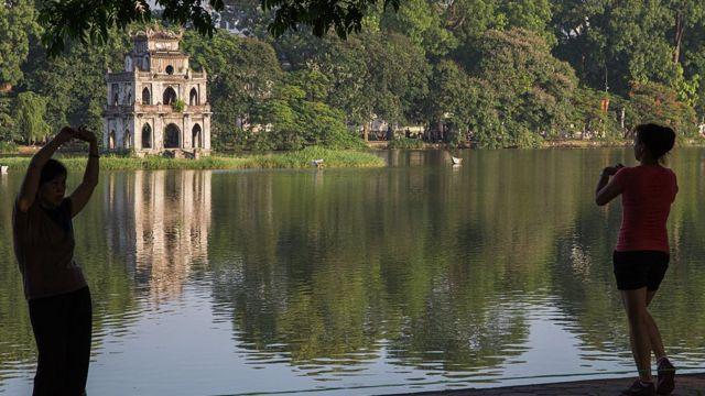 Tháp rùa ở Hồ Gươm