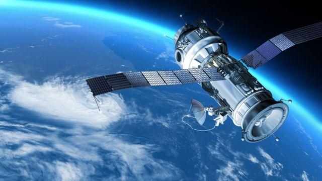Satélite con tecnología de GPS
