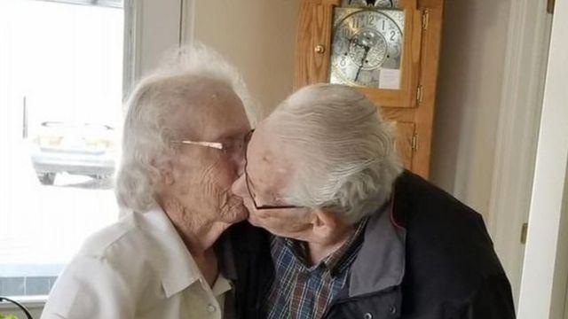 89 वर्षीय ऑड्रे गुडिन और 91 साल के हर्बर्ट गुडिन