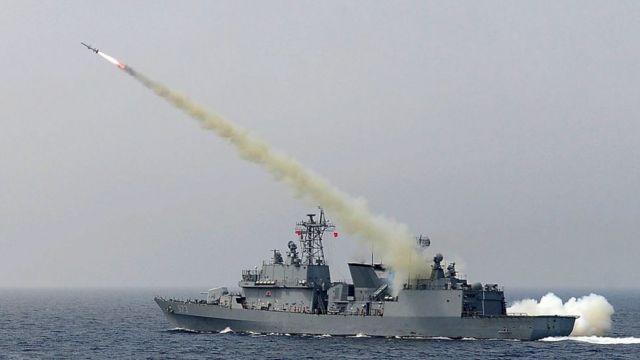Misil en territorio de Corea del Sur.