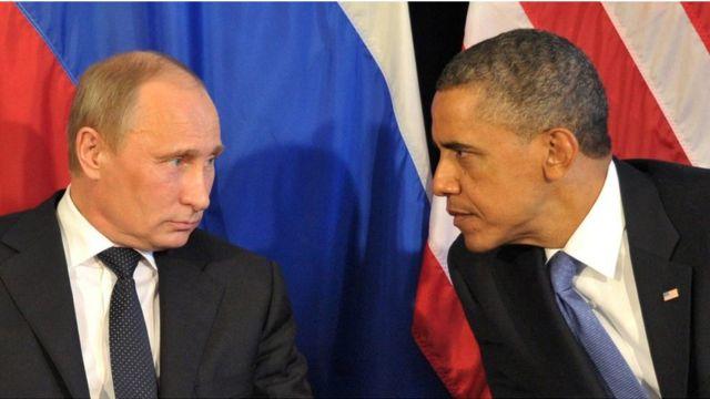 रूस के राष्ट्रपति व्लादिमीर पुतिन और अमरीकी राष्ट्रपति बराक ओबामा