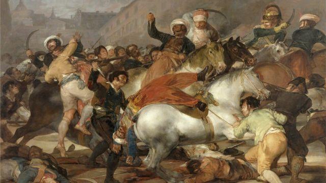 La carga de los Mamelucos, de Francisco Goya