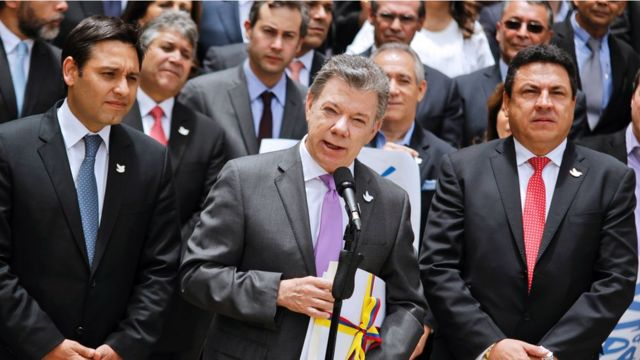 El presidente de Colombia Juan Manuel Santos