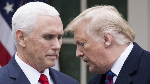 Mike Pence y Donald Trump