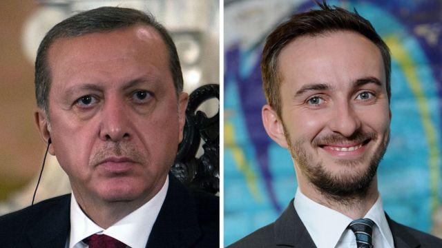 الرئيس التركي يتهم الكوميدي الألماني بالإساءة إلى شخصه من خلال قصيدة شعرية