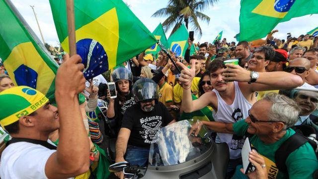 Simpatizantes de Bolsonaro no Rio