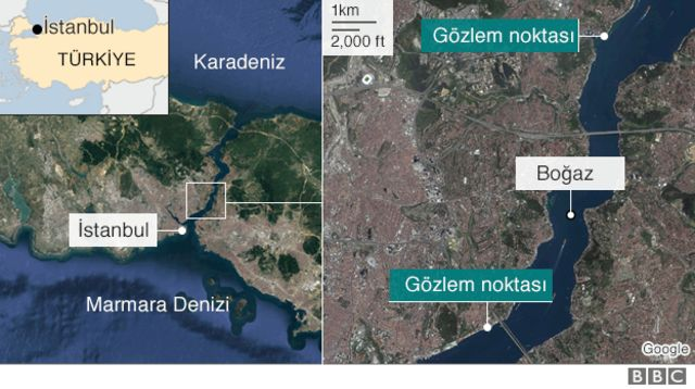 İstanbul Boğazı haritası
