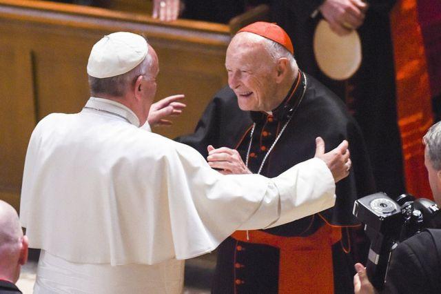 El Papa junto a Theodore McCarrick