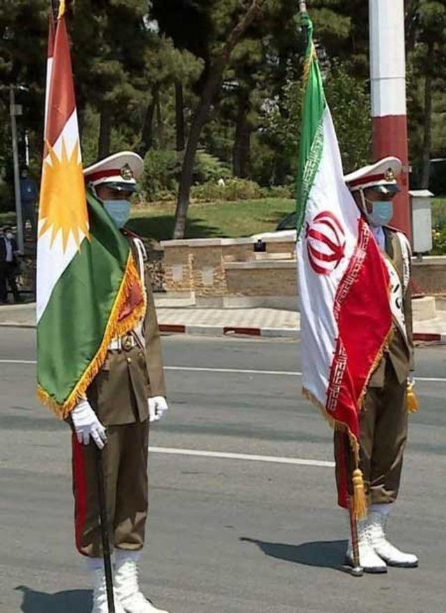 پرچم اقلیم کردستان عراق در تهران