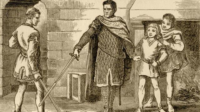 I Vilhelm Fateh oğulları ilə.