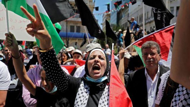 Акция палестинцев