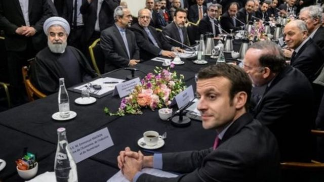 روحانی و مکرون - پاریس
