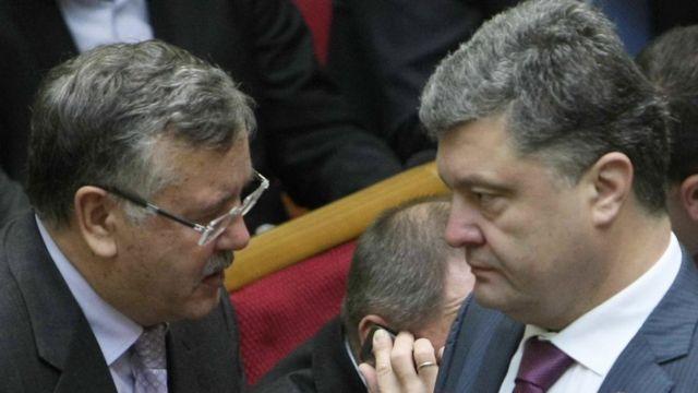 Гриценко і Порошенко