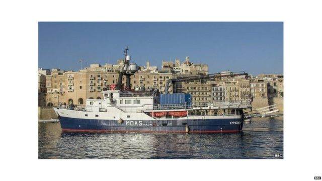 MOAS ship to save victims.