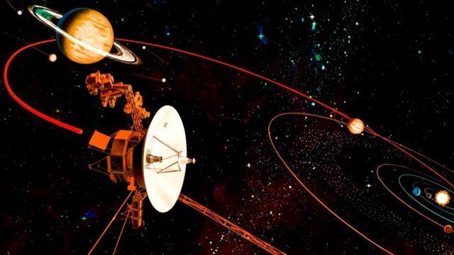 """Космический зонд """"Вояджер-1"""" путешествует в космосе уже более 40 лет"""