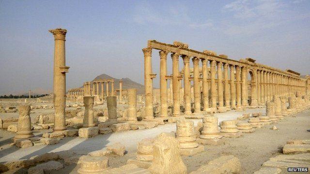 Colonnade in Palmyra, Syria