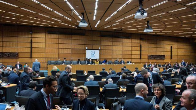 تصویری از جلسه روز جمعه آژانس بینالمللی انرژی اتمی