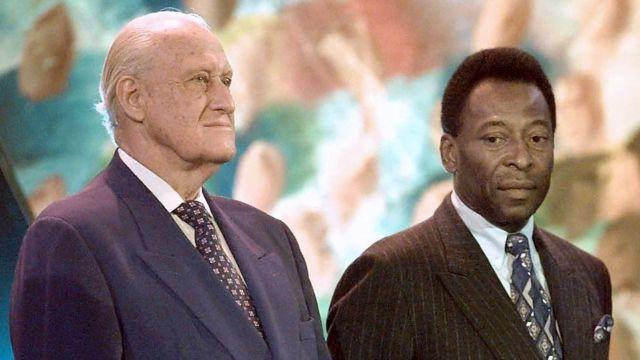 João Havelange e Pelé em 1998
