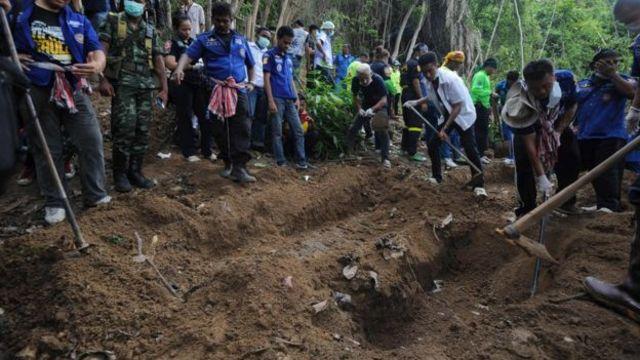 การขุดค้นหาศพของชาวโรฮิงญา