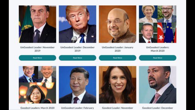 Líderes escolhidos por ranking, em diferentes meses